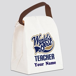 Personalized Teacher Canvas Lunch Bag