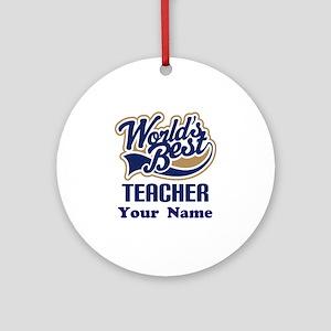 Personalized Teacher Ornament (Round)
