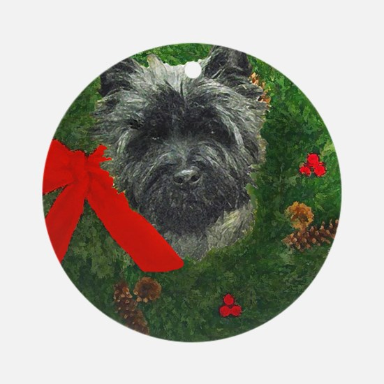 Cairn at Christmas Ornament (Round)