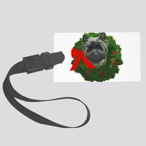 Cairn at Christmas Large Luggage Tag