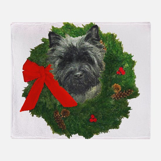 Cairn at Christmas Throw Blanket
