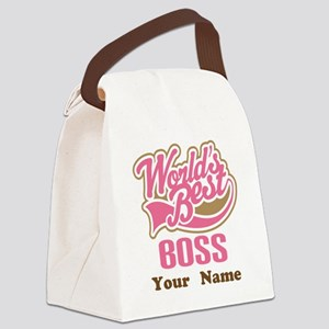 Personalized Boss Gift Canvas Lunch Bag