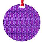 Retro Purple Pattern Round Ornament