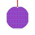 Retro Purple Pattern Ornament (Round)