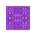 Retro Purple Pattern Square Sticker 3