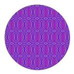 Retro Purple Pattern Round Car Magnet