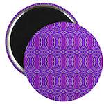 Retro Purple Pattern Magnet
