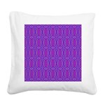 Retro Purple Pattern Square Canvas Pillow
