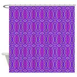 Retro Purple Pattern Shower Curtain