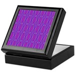 Retro Purple Pattern Keepsake Box