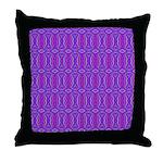 Retro Purple Pattern Throw Pillow