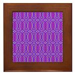Retro Purple Pattern Framed Tile