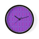 Retro Purple Pattern Wall Clock