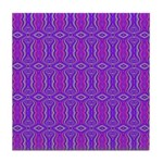 Retro Purple Pattern Tile Coaster