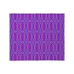 Retro Purple Pattern Throw Blanket