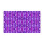 Retro Purple Pattern 35x21 Wall Decal