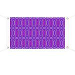 Retro Purple Pattern Banner