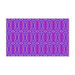 Retro Purple Pattern 20x12 Wall Decal