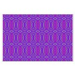 Retro Purple Pattern Large Poster