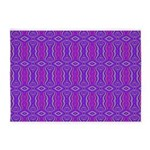 Retro Purple Pattern 5'x7'Area Rug