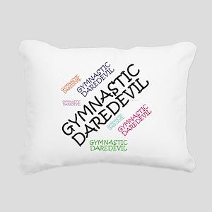 Gymnastics Daredevil Rectangular Canvas Pillow