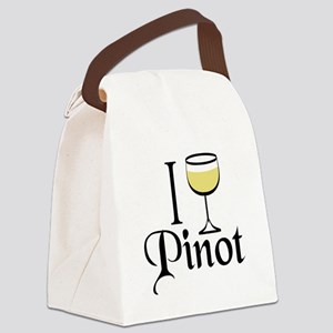 Pinot Wine Drinker Canvas Lunch Bag