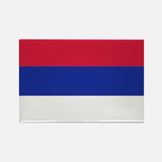 Serbia flag Rectangle Magnet
