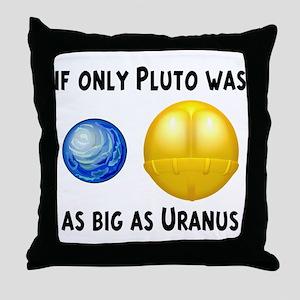 Pluto As Big As Uranus Throw Pillow