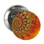 Funky Orange Fractal Art Pattern 2.25