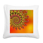 Funky Orange Fractal Art Pattern Square Canvas Pil