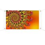Funky Orange Fractal Art Pattern Banner