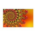 Funky Orange Fractal Art Pattern 20x12 Wall Decal