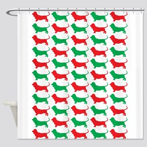 Bassett Hound Christmas or Holiday Silhouette Show