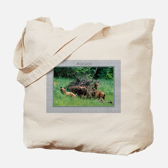Alaska Brown Bear Cubs Tote Bag