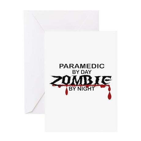 Paramedic Zombie Greeting Card