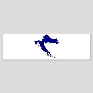 Croatia map Sticker (Bumper)