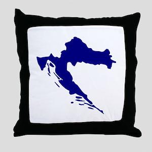 Croatia map Throw Pillow