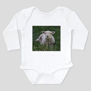 Babydoll Smile Long Sleeve Infant Bodysuit