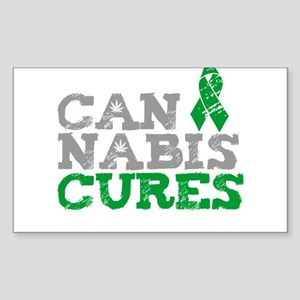 Cannabis Cures Sticker (Rectangle)