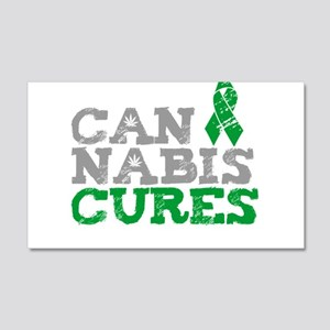 Cannabis Cures 20x12 Wall Decal