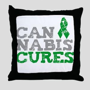 Cannabis Cures Throw Pillow