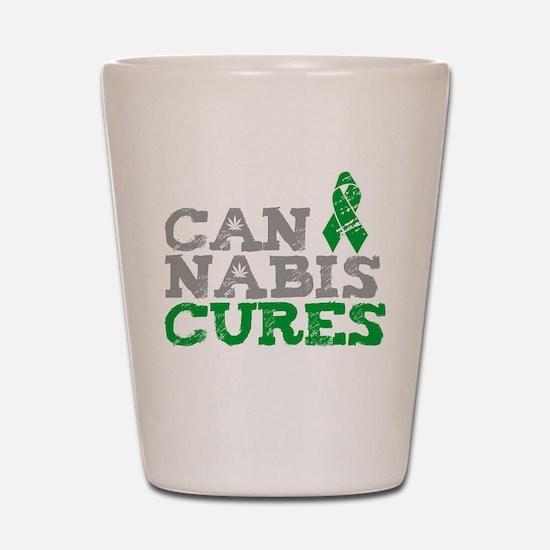 Cannabis Cures Shot Glass