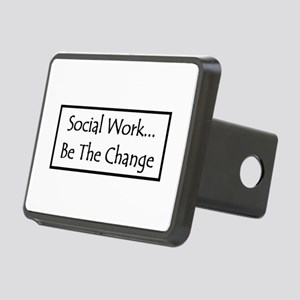 Social Work - Be The Change Rectangular Hitch Cove