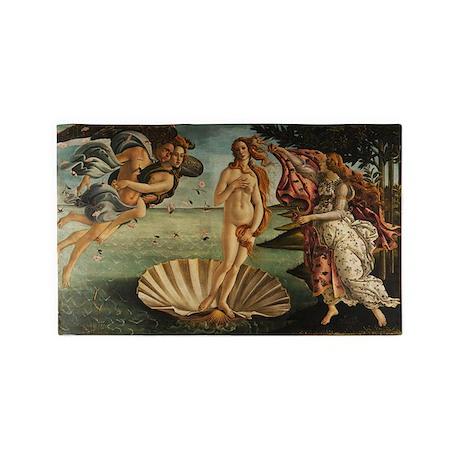 Botticelli Birth Of Venus 3'x5' Area Rug