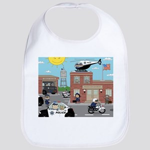 POLICE DEPARTMENT SCENE Bib