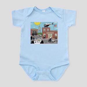 POLICE DEPARTMENT SCENE Infant Bodysuit