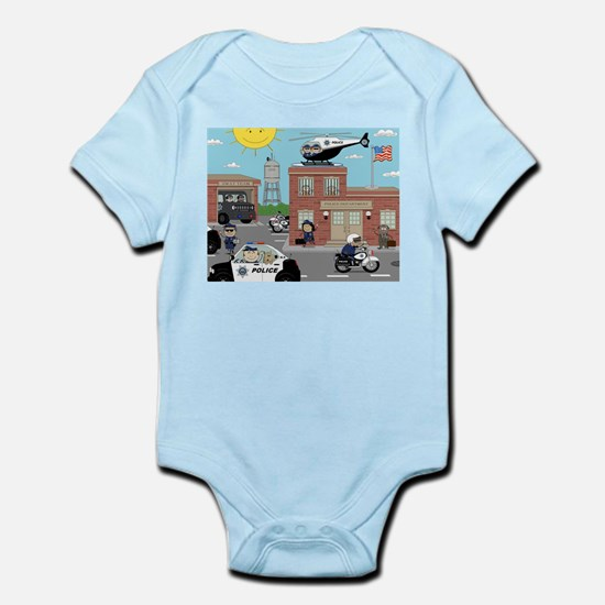 POLICE DEPARTMENT SCENE Infant Bodysuit