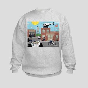 POLICE DEPARTMENT SCENE Kids Sweatshirt