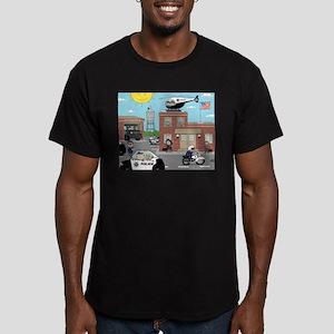 POLICE DEPARTMENT SCENE Men's Fitted T-Shirt (dark