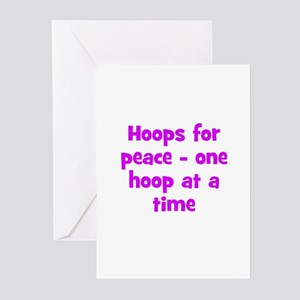 Hoops for peace - one hoop at Greeting Cards (Pack